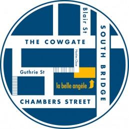 La Belle Angele Club Edinburgh Map