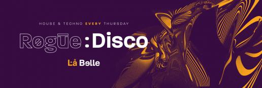 Artwork for Rogue Disco at La Belle Angele Club Edinburgh